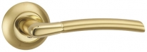 Ручка дверная на круглой розетке Punto Ardea Tl Sg/Gp-4 Золото матовое/Золото