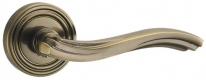 Ручка дверная на круглой розетке Punto Vento Ml Abg-6 Зеленая Бронза