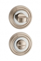 Дверная завертка Punto Bk6 Ml Sn/Cp-3 Матовый никель/Хром