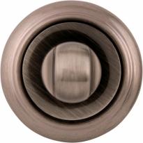 Дверная завертка Melodia Wc 50 V Зетемненное серебро