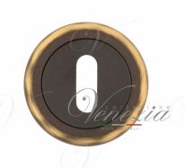 Накладка дверная под ключ буратино Venezia KEY-1 D1 темная бронза