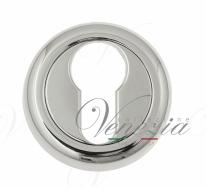 Накладка дверная под цилиндр Venezia CYL-1 D1 полированный хром