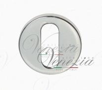Накладка дверная круглая под ключ буратино Venezia Unique KEY-30 (серия SLIM) матовый хром 2 шт.
