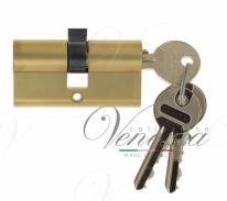 Цилиндровый механизм ключ-ключ Venezia 25/10/25 французcкое золото