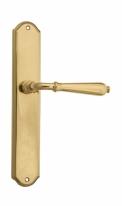Ручка дверная на планке проходная Venezia Classic PL02 полированная латунь