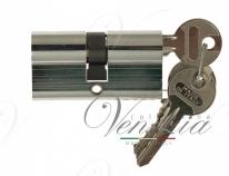 Цилиндровый механизм ключ-ключ Venezia 25/10/25 полированный хром
