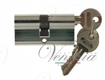 Цилиндровый механизм ключ-ключ Venezia 30/10/30 полированный хром