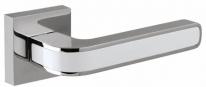 Ручка дверная на квадратной розетке Fuaro Neo Dm Cp/Wh-19 Хром/Белая