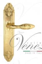 Ручка дверная на планке проходная Venezia Casanova PL90 полированная латунь