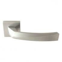 Ручка дверная на квадратной розетке Forme Crystal 268 Хром матовый  (Fixa)