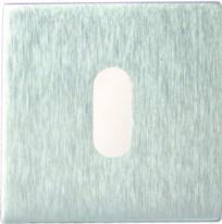 Дверная накладка под ключ буратино Melodia Матовый хром (Fixa)