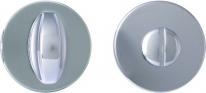 Дверная завертка Melodia Wc круглая Матовый хром (Fixa)