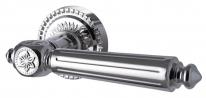 Ручка дверная на круглой розетке Armadillo Matador Cl4 Ср Хром
