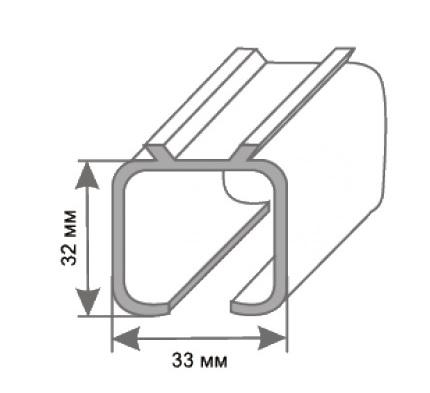 Верхняя Направляющая Для Раздвижных Дверей L 2