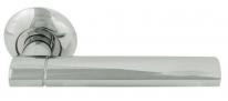 Ручка дверная на круглой розетке Нора-М 103 А AL хром