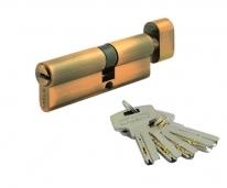 Цилиндровый механизм Нора-М Люкс I Л-80 (Застаренная Медь) (45-35)