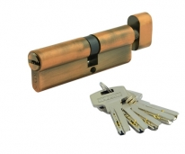 Цилиндровый механизм Нора-М Люкс I Л-90 (Застаренная Медь) (50-40)