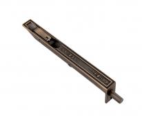 Ригель (торцевой ограничитель, шпингалет) дверной латунный Corona 200 Мм Матовая  бронза