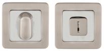 Дверная завертка Punto Bk6 Qr Sn/Cp-3 Матовый никель/Хром