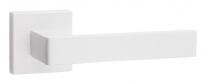 Дверная ручка на квадратной розетке FIMET 168/211BIC ICE F17 WHITE SHINY - белый полированный