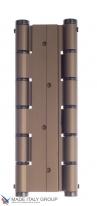 Петля пружинная двойная Justor 5934.03 180x157x50 античная бронза 40/60 кг, полотно до 50 мм
