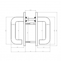 Ручка для противопожарной двери DOORLOCK DL K038KP/F PZ72