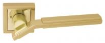 Ручка дверная на квадратной розетке Rezident Ld147 Sg матовое золото