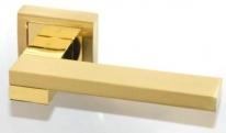 Ручка дверная на квадратной розетке Rezident Ld175 Sg матовое золото