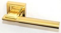 Ручка дверная на квадратной розетке Rezident Ld176 Sg матовое золото