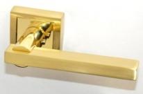Ручка дверная на квадратной розетке Rezident Ld178 Sg матовое золото