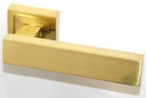 Ручка дверная на квадратной розетке Rezident LD182-15 SG матовое золото