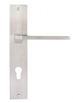 Ручка на планке Forme Alice 297 под цилиндр матовый хром