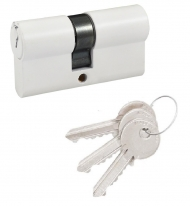 Цилиндровый механизм Cortellezzi Primo 116 30x30 ключ/ключ, белый 3 ключа