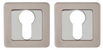 Накладка под цилиндр Punto Et Qr Sn/Cp-3 Матовый никель/Хром