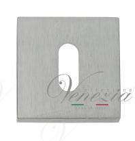 Накладка дверная квадратная под ключ буратино Venezia Unique KEY-20 матовый хром 2 шт.