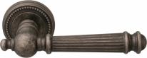 Ручка дверная на круглой розетке Melodia Veronica 102L Серебро античное