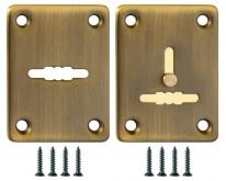 Декоративная накладка FUARO ESC081/082-AB-7 (МАТОВАЯ БРОНЗА) на сув. замок сталь (1 пара)