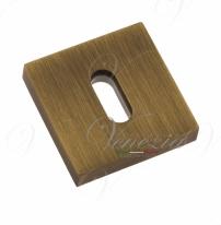 Накладка дверная квадратная под ключ буратино Venezia Unique KEY-20 матовая бронза 2 шт.