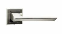 Ручка дверная на квадратной розетке Bussare Aspecto A-64-30, Хром матовый