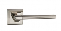Ручка дверная на квадратной розетке Bussare Elevado A-63-30, Хром/Хром матовый