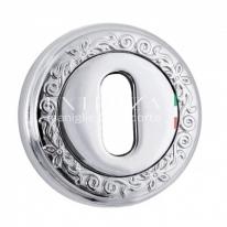 Накладка под ключ KEY Extreza R06 Натуральное пол. Серебро + черный F24