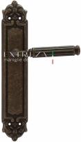 Ручка дверная на планке пустышка Extreza BENITO (Бенито) 307 PL02 PASS бронза античная F23