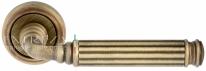 Ручка дверная на круглой розетке Extreza BENITO (Бенито) 307  R01 Бронза матовая F03