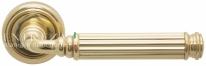 Ручка дверная на круглой розетке Extreza BENITO (Бенито) 307  R01 Латунь блестящая F01