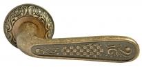 Ручка дверная на круглой розетке Rucetti RAP-CLASSIC 1 OMB Бронза состаренная матовая