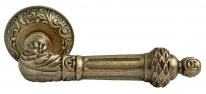 Ручка дверная на круглой розетке Rucetti RAP-CLASSIC 3 OMB Бронза состаренная матовая