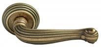 Ручка дверная на круглой розетке Rucetti RAP-CLASSIC-L 4 OMB Бронза состаренная матовая