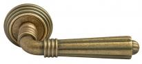 Ручка дверная на круглой розетке Rucetti RAP-CLASSIC-L 5 OMB Бронза античная