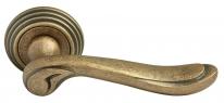 Ручка дверная на круглой розетке Rucetti RAP-CLASSIC-L 6 OMB Бронза античная