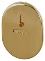 Декоративная накладка ESC 476 GP ЛАТУНЬ на сувальдный замок с шторкой